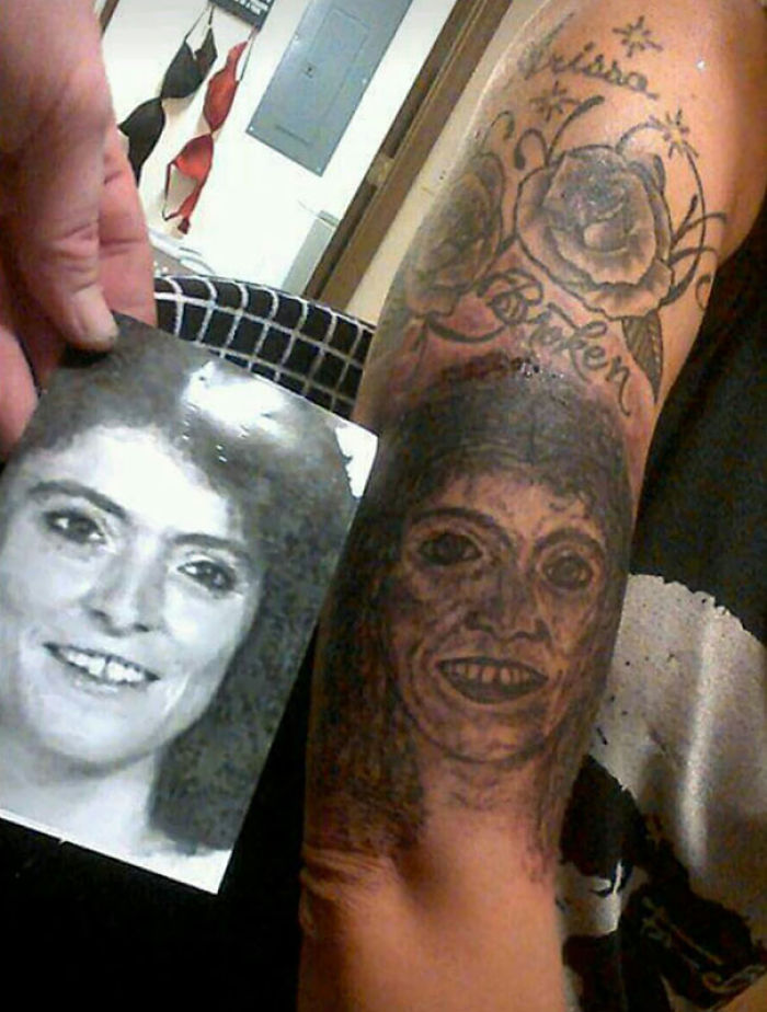 So My Buddy's Step Sister Got A Tattoo Of Her Mother