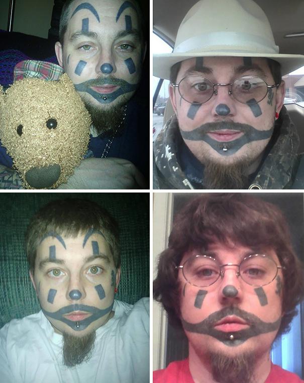 ICP Face Make-Up Tattoo. 100% Real