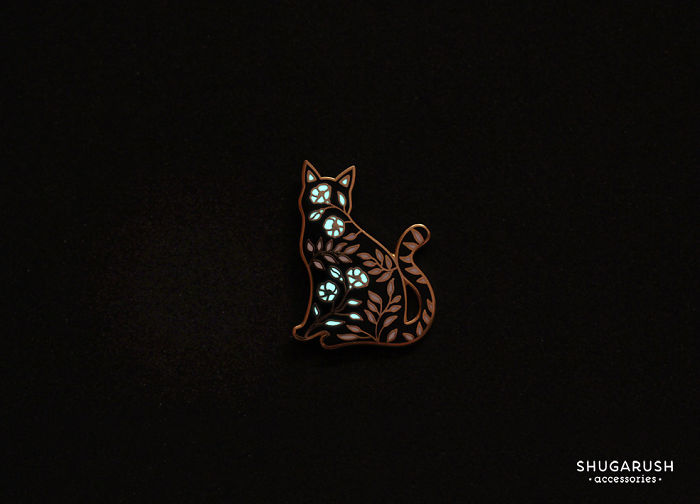 I Create Glow In The Dark Enamel Pins And Galaxy Necklaces