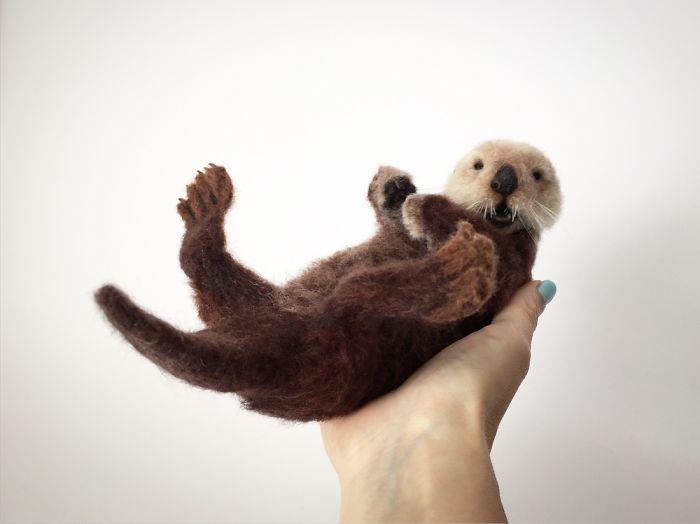 Needle Felted Sea Otter