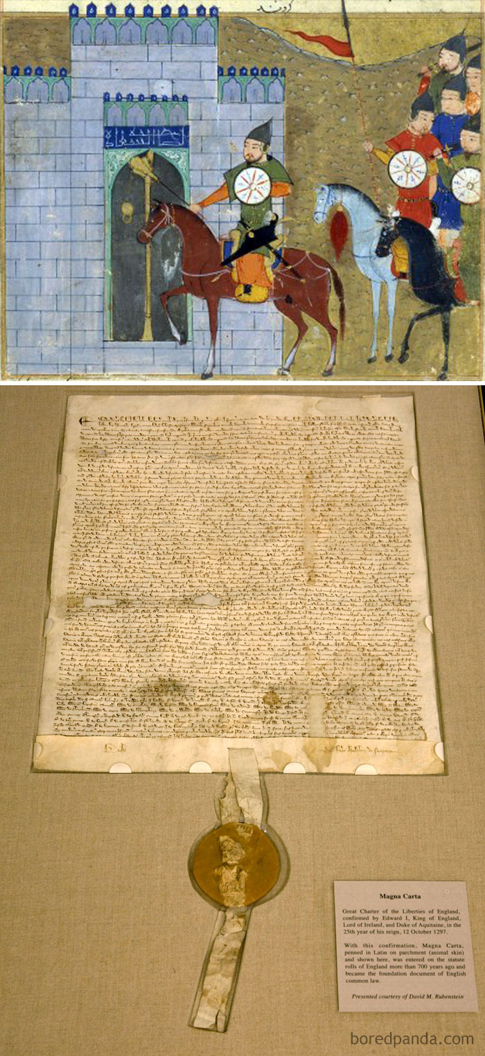 The Magna Carta Was Signed In 1215, The Same Year Beijing Was Captured And Burned By The Mongols Under The Direction Of Genghis Khan