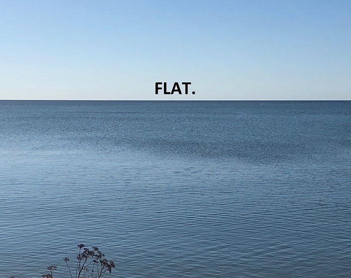 It Sure Looks Flat ….. But It's Not !