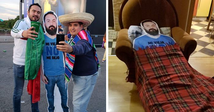 Wife Doesn't Let Her Husband Go To World Cup In Russia, So His Friends Make Sure He'd Be There Anyway