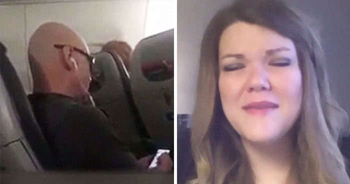Woman Notices Man Next To Her Is Texting Someone That He's Sitting Next To 'Smelly Fatty', And It Escalates Quickly