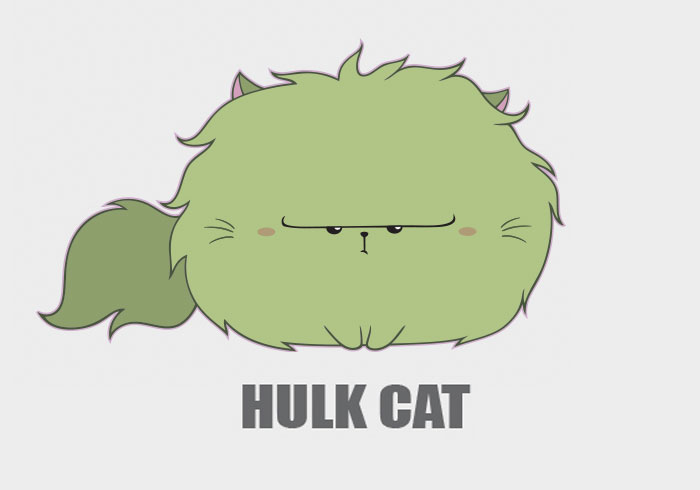 I Drew Marvel Characters As Cute Kitties