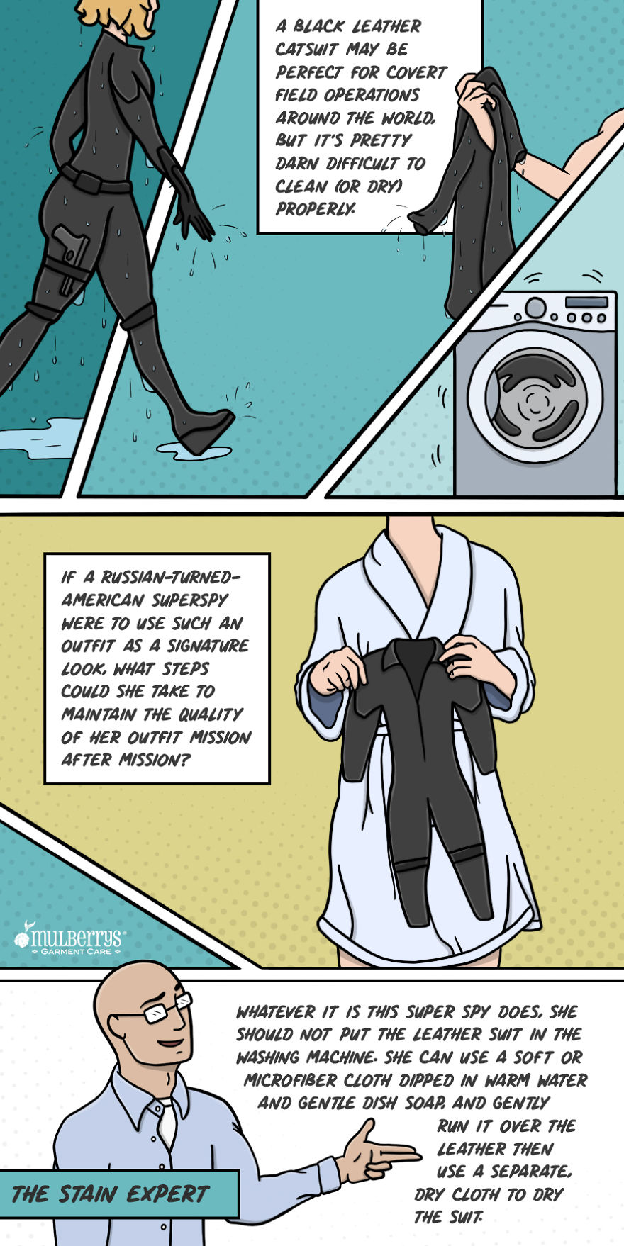 Artist Creates Gorgeous Comics Describing How Superheroes Should Clean Their Costumes