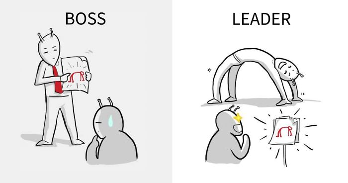 The Real Difference Between A Boss And A Leader Explained In 8 Illustrations