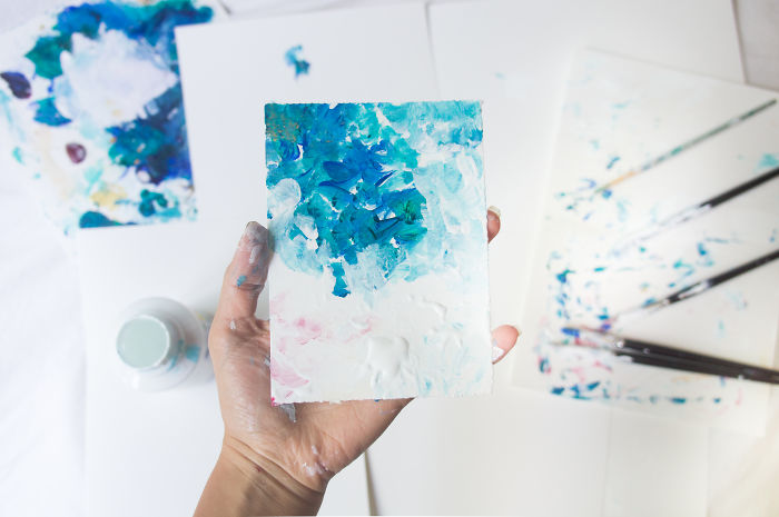 I Created 100 Abstract Paintings In 100 Days, And Gave Them To People Around The World
