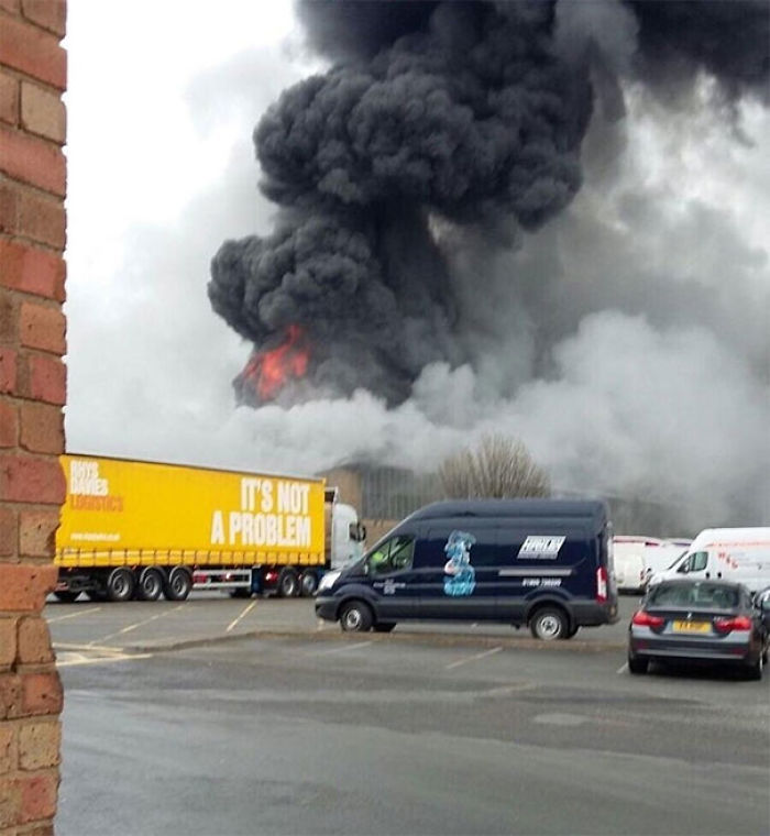 My Mum Sent Me This Unintentionally Ironic Photo Of An Accident At Her Work The Other Day