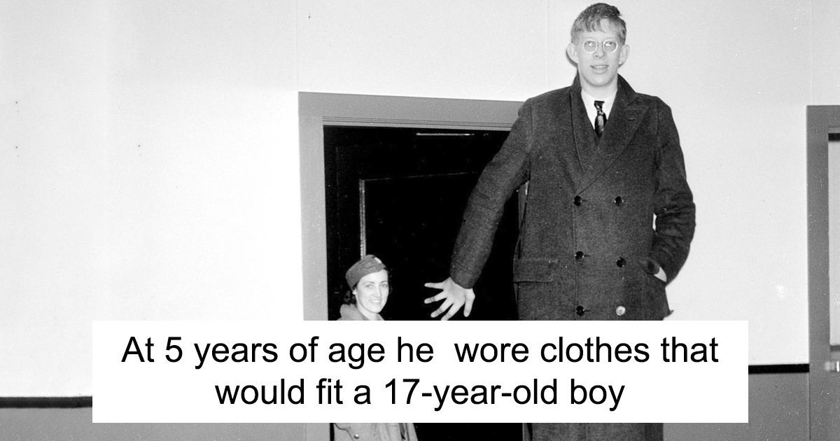someone found rare footage of the tallest man that ever lived and