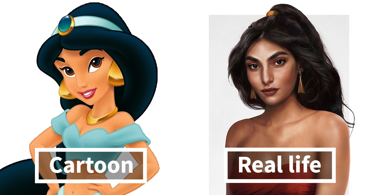 Disney Cartoon Characters In Real Life