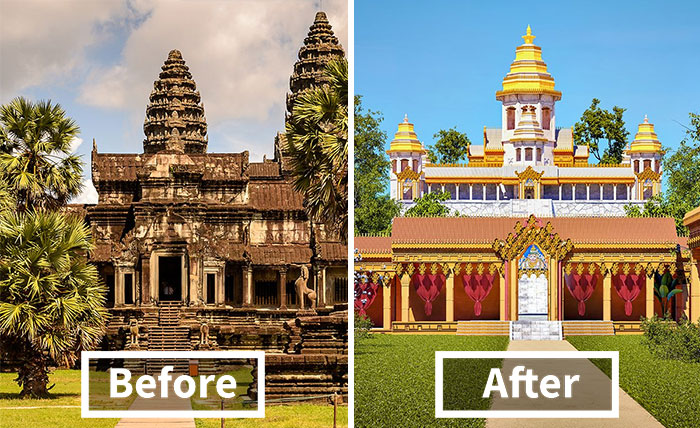 If 7 Famous Historical Ruins Were Restored Back To Their Ancient Glory