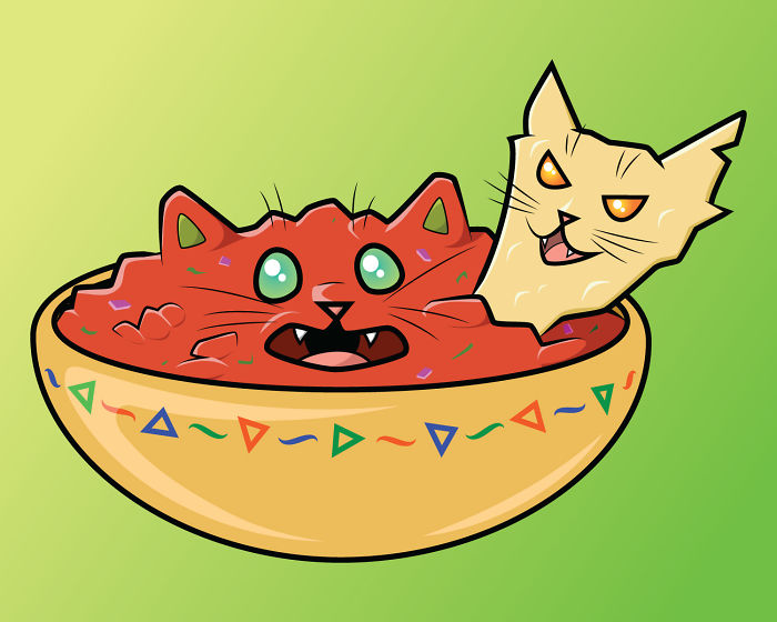 Salsa And Chip Cats