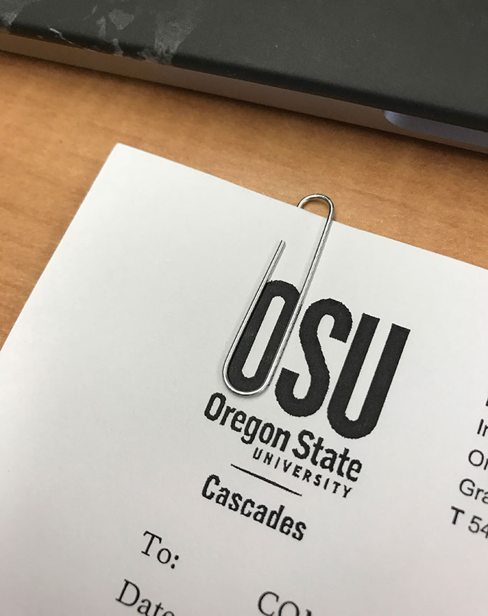 "Paperclip Perfectly Loops Around The ""O"" On My Paper"