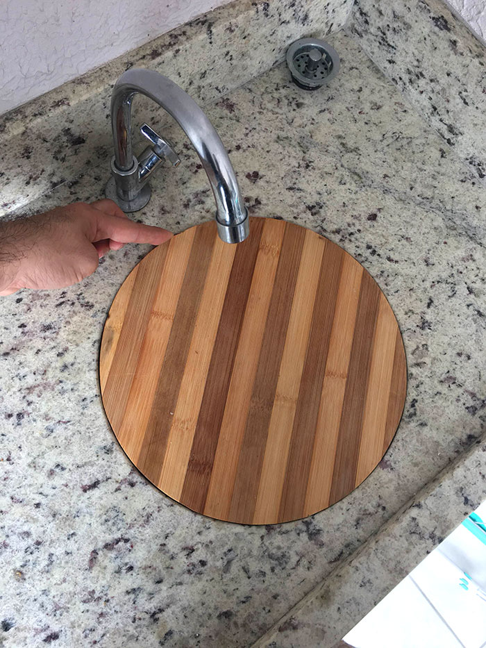 My Chopping Board Fits Perfectly In The Sink