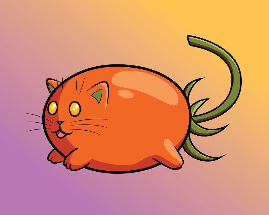Roma Tomato Cat