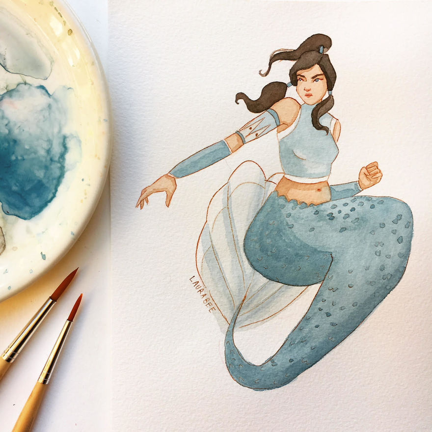 I've Been Drawing Mermaids For Whole May And These Are The Results