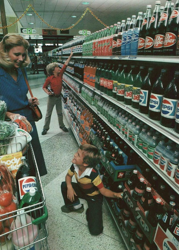 1980, When Every Soft Drink Bottle On The Shelf Was Still Glass