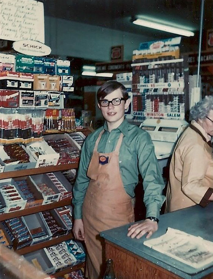 Box-Boy In A Small Rural Grocery Store In Southeast Idaho, 1972