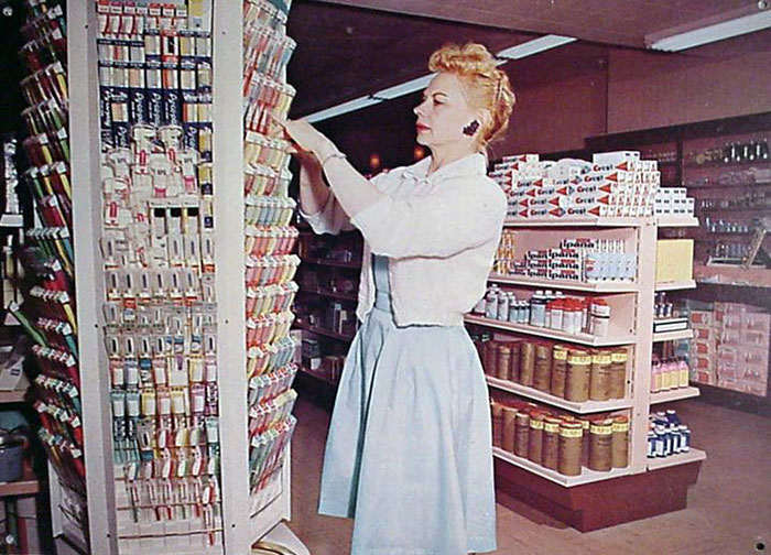 At The Grocery Store, 1950s