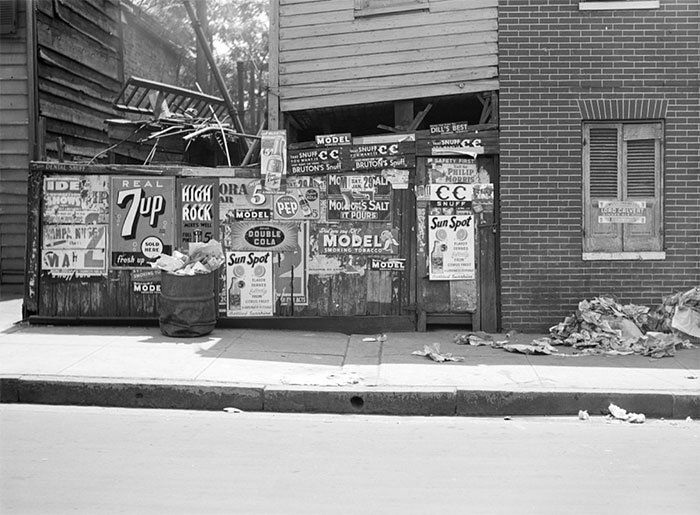 Rear Of Grocery Store, Baltimore, Maryland, 1938