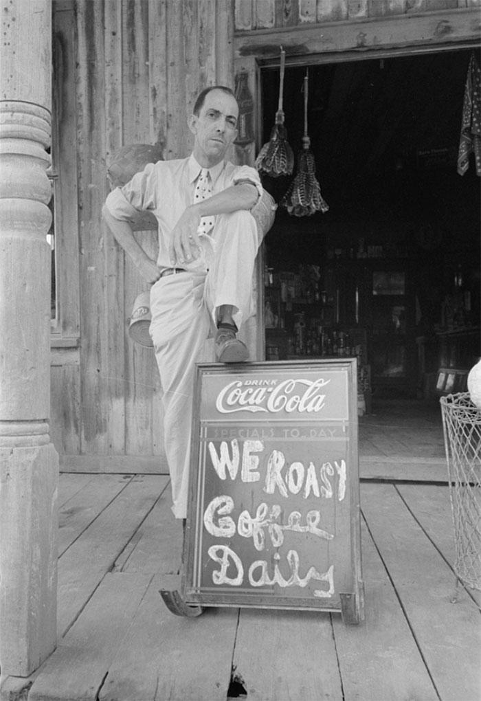 Proprietor Of Small Grocery Store, Jeanerette, Louisiana, 1938