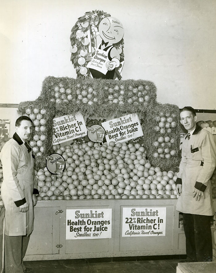 Sunkist Grocery Store Display, 1940s