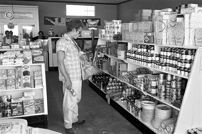 James Dean Shopping For Groceries In Marfa, TX, 1955