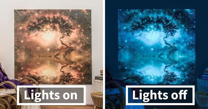 When The Lights Go Out, My Glowing Murals Turn These Rooms Into Dreamy Worlds (Part 2)
