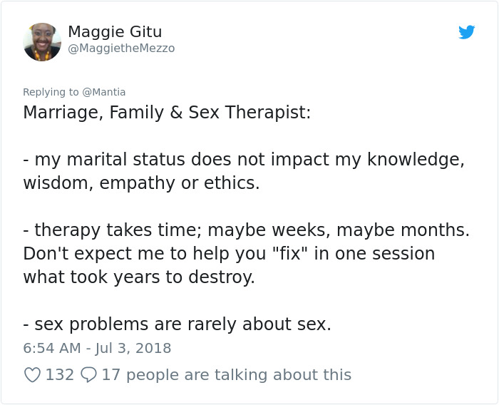 Marriage, Family, And Sex Therapist