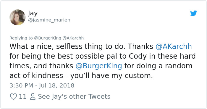 Sick Dog Get His Dream Fullfilled By Burger King After They Offer Free Burgers For The Rest Of His Life