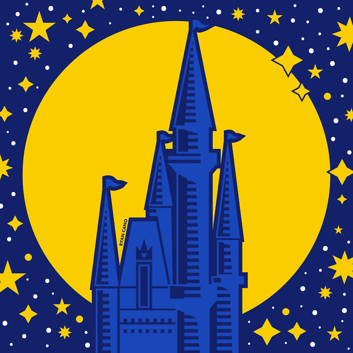 I Illustrate The Architecture And Design Of Disney Parks In Vivid Minimalism