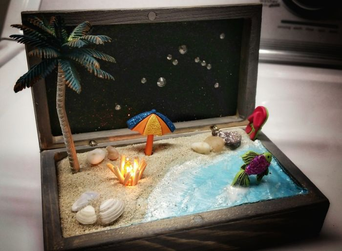 Diy Beach Scene W/ Fire!