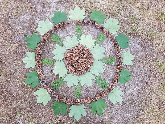 I Create Mandalas Out Of Nature Materials As A Way Of Meditation