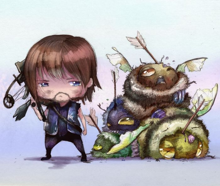 Daryl Dixon And Zombees