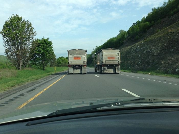 They've Been At It For About 30 Miles So Far. On I-80 In Pennsylvania