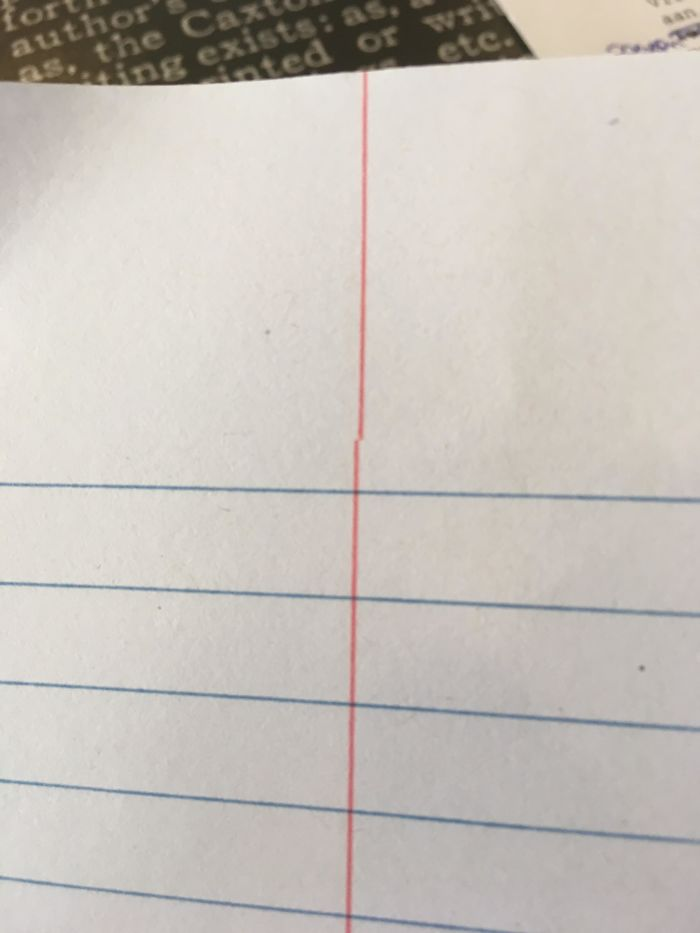 This Line On Every Page Of My Notebook