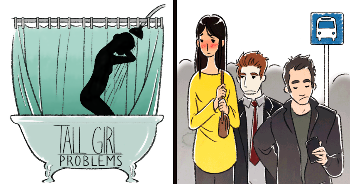 Artist Illustrates Tall & Short Girl Problems, And The Result Is Hilariously Relatable