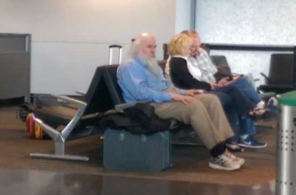 This Guy At The Airport Looked So Much Like Charles Darwin That I Didn't Even Take His Picture... My Camera Just Naturally Selected Him