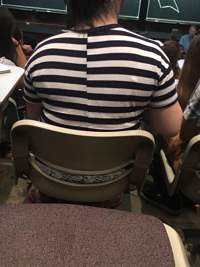 La espalda de esta camiseta