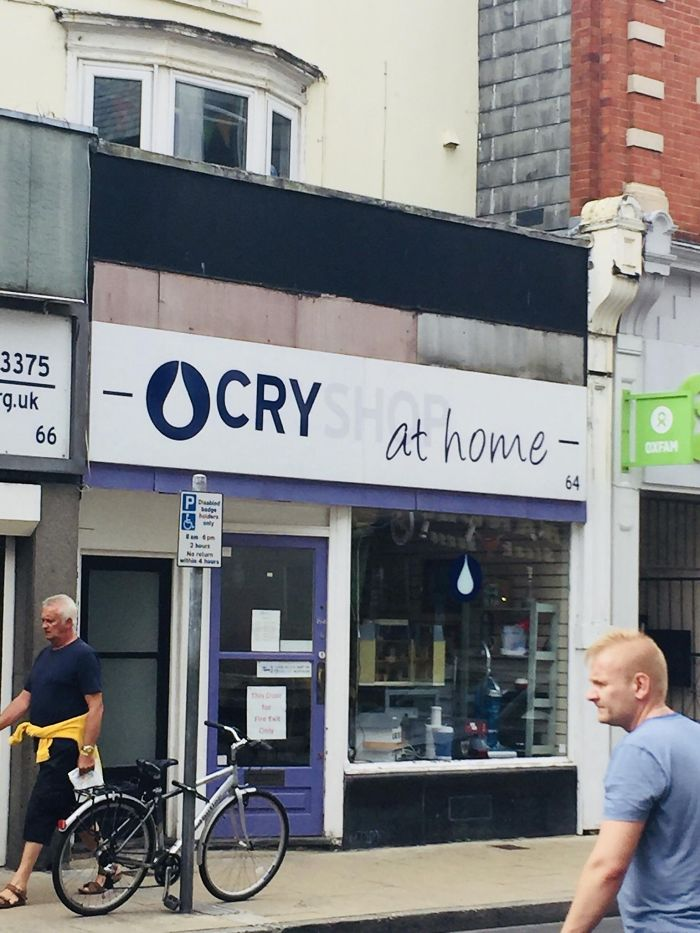 Poor Colour On This Shop Sign