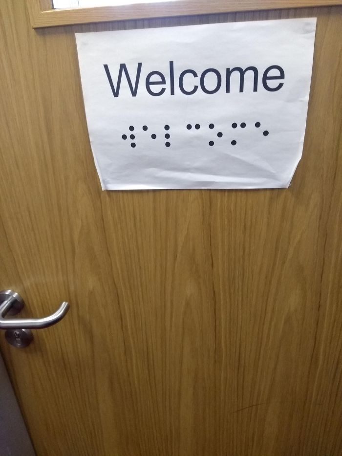 In My School. The Braille Isnt Raised