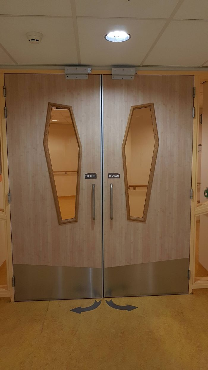 These Coffin-Shaped Door Windows In This Hospital