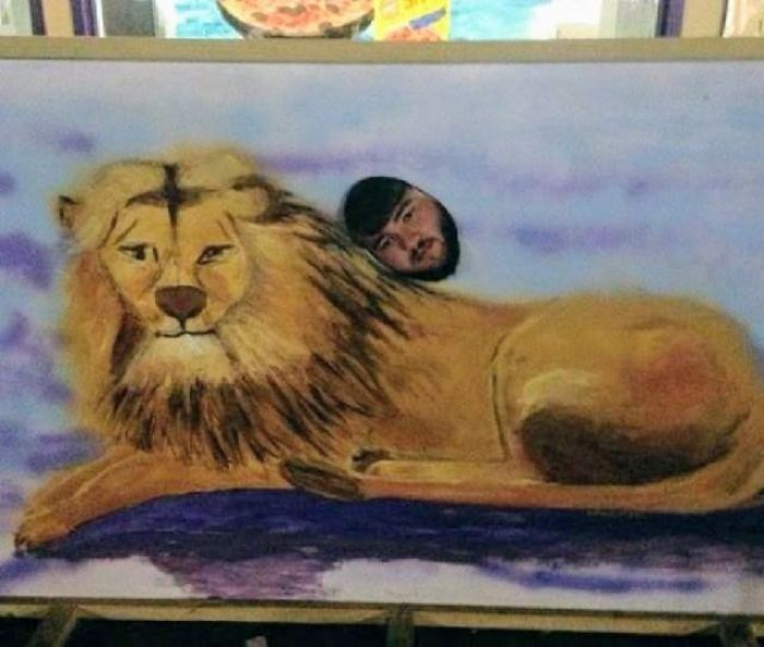 Your Giraffe Is Pretty Good, But I Think My Lion Is A Bit More Realistic