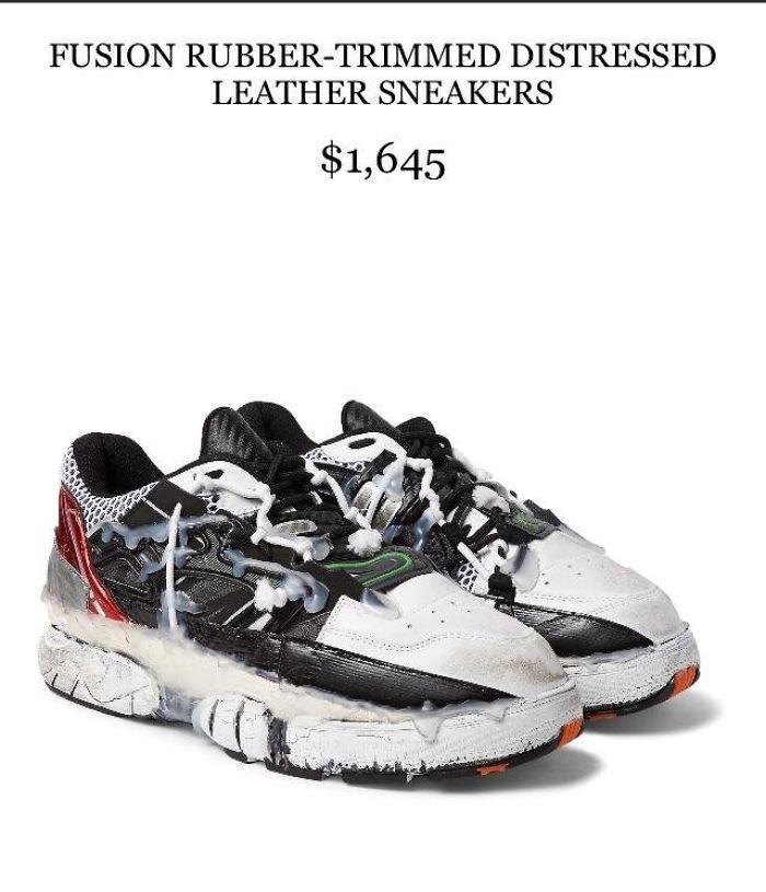 Estos zapatos parecen salidos de la basura
