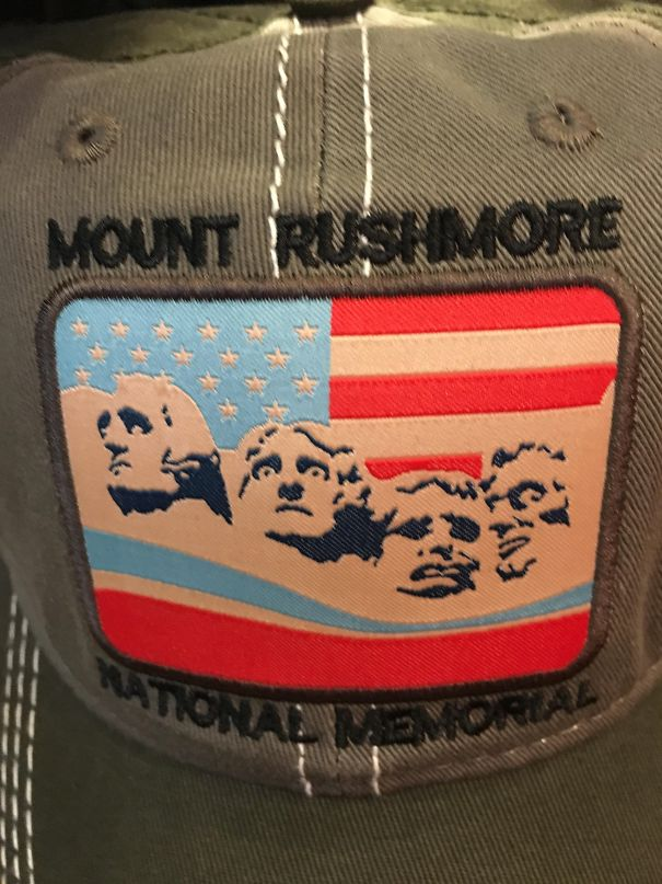 I'll Have What Thomas Jefferson Is Having... One Of The Funniest Hats Here At The Mount Rushmore Souvenir Shop...