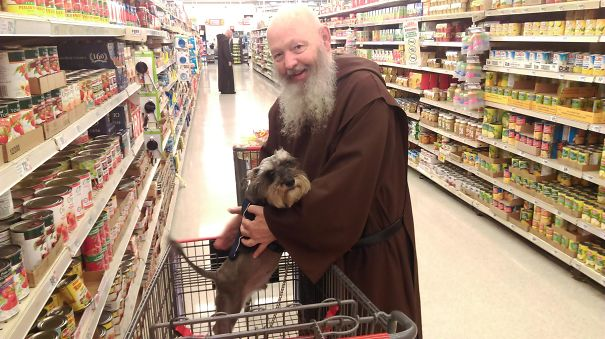 This Monk Just Stopped Me And My Dog In The Store To Tell Me That My Dog Reminded Him Of A Picture He'd Seen