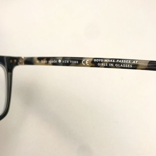 My New Glasses Have A Cute Little Message