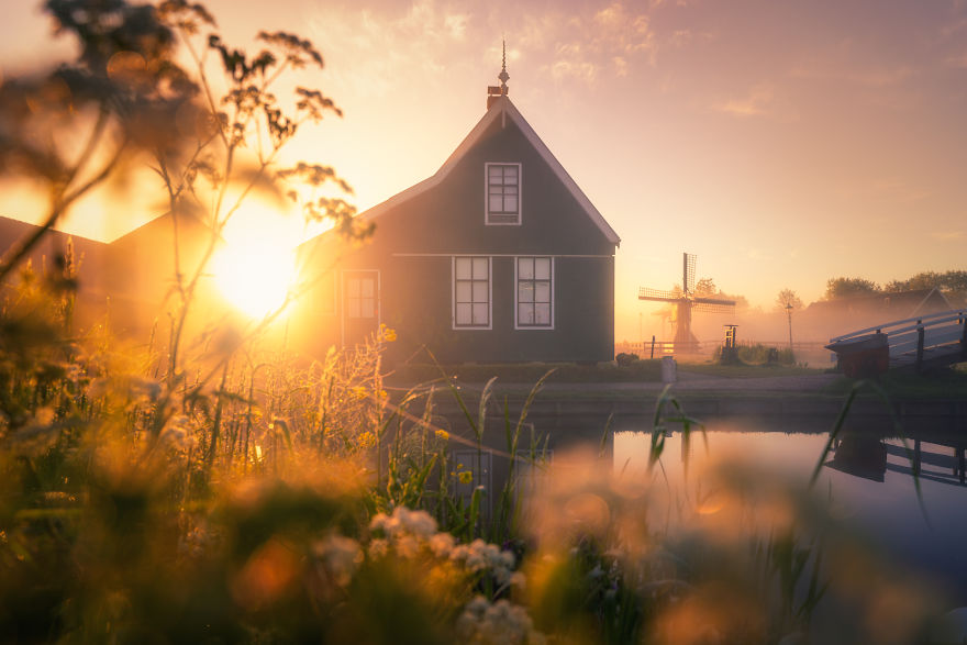 This Is The House Connecting To The Famous Cheese Farm At The Zaanse Schans. People Live Here. Imagine Living In A House That Thousands Of People Photograph Every Day