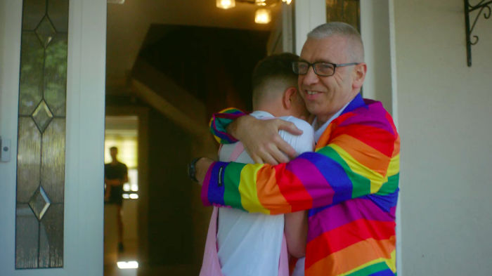 A Heartwarming Video Of Proud Dads Surprising Their Kids For Pride Has Gone Viral